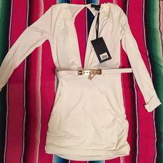 White open back style stalker dress with belt White open back style stalker dress with belt Style stalker  Dresses Mini