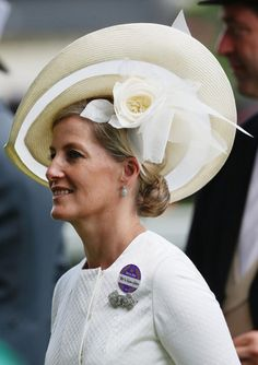 Countess of Wessex, June 18, 2014 in Jane Taylor | Royal Hats........Royal Ascot Day 2....Posted on June 19, 2014 by HatQueen.