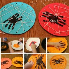 Risultati immagini per manualidades halloween niños Kids Crafts, Halloween Crafts For Kids, Halloween Activities, Holiday Crafts, Bug Crafts, Craft Kids, Easy Halloween, Creative Crafts, Kindergarten Art Activities