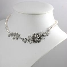 White Pearl necklace Vintage Wedding Jewelry by LuluSplendor