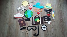 Accessoires photobooth x 21 thème voyage. mariage, retraite, anniversaire. : Autres papeterie par stefebricole