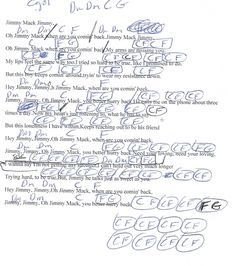 Cat's In The Cradle (Harry Chapin) Guitar Chord Chart in F