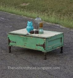 Flea Market to Fab Rustic Coffee Table
