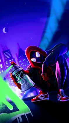 Miles Morales – Ultimate Spider-Man, Into the Spider-Verse – Marvel Comics Films Marvel, Marvel Art, Marvel Heroes, Wallpaper Animé, Handy Wallpaper, Black Wallpaper, Phone Wallpaper For Men, Wallpaper Samsung, Beautiful Wallpaper