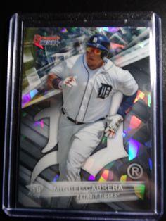 2016 Bowman's Best #56 Miguel Cabrera Atomic Refractor Tigers Baseball Card #DetroitTigers