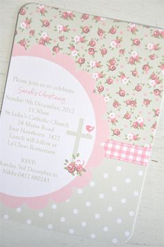 Pack 10 Christening Invitations