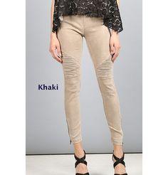GroopDealz | Classic Motto Leggings - 6 Colors! Linen Bag, Linen Pants, Khaki Pants, Motto Leggings, Stretch Denim Fabric, Soft Shorts, Skinny Pants, Jeggings, Online Boutiques