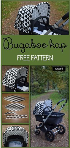 OOAKI: Bugaboo Cameleon kap. Free pattern. This is in Dutch(?), but maybe the pattern translates?