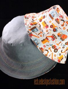 Toddler And Baby Reversible Bucket Hats Link To Free Pattern Toddler Hat Pattern Baby Hat Patterns Hat Patterns To Sew