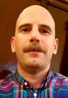 Mustache Men, Mustache Styles, Cool Mustaches, Moustaches, Hot Men, Hot Guys, Bald Men Style, Male Pattern Baldness, Find Man