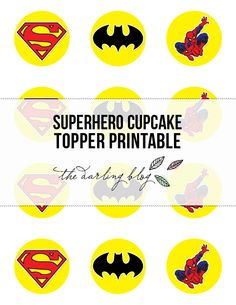 For all the Batman lovers out there. He's my favorite Superhero - Cupcake toppers Batman Birthday, Superhero Birthday Party, Boy Birthday, Birthday Ideas, Superhero Cupcake Toppers, Superman Party, Spiderman, Party Time, Party Party