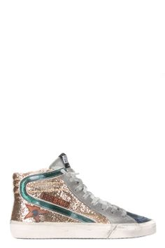 Sneakers Slide Paillettes Or - Golden Goose