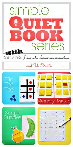 Simple Quiet Book Series with free templates - great for sacrament meeting, too!