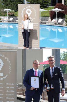 Grund zum Feiern: In der Kategorie «Wellnesslocations» vom Swiss Location Award 2019 hat das Bürgenstock Resort in Obbürgen den 1. Platz erreicht, das Hotel Oberwaid in St. Gallen hat den Publikumspreis gewonnen.