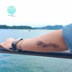 Mountains, wave, Day and night tattoo Tattoos Skull, Foot Tattoos, Body Art Tattoos, Sleeve Tattoos, Geek Tattoos, Movie Tattoos, Ocean Tattoos, Nature Tattoos, Pretty Tattoos