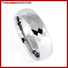6MM SIZE 6.5 FACETED TUNGSTEN CARBIDE BAND RING R0909B Diamond Jewelry, Gemstone Jewelry, Beaded Jewelry, Jewellery, Discount Jewelry, Tungsten Carbide, Best Jewelry Stores, Band Rings, Fashion Jewelry