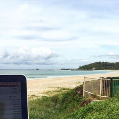 """Enjoying the views from my """"office"""" as I make my playlists.  People were asking me about my playlist from last month and many of the songs were from the super talented  @arliliberman 's new album #fatamorgana .  I #love his work.  You can buy from iTunes or catch him at the @wanderlustausnz events.  #yoga #yogateacher #yinyoga #blessedandgrateful #happiness #beachlife #goldcoast #australia #music"""