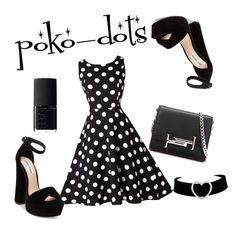 """""""poko-dots!"""" by cjflynn on Polyvore featuring Steve Madden, Tod's and NARS Cosmetics"""