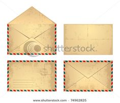 Imagery Investigation: Vintage envelope vector art that might work for the contact page.