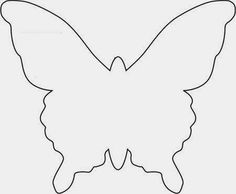 butterfly template for paper butterflies Butterfly Mobile, Butterfly Wall Decor, Butterfly Party, Crafts For Kids, Arts And Crafts, Paper Crafts, Diy Crafts, Butterfly Template, Butterfly Outline