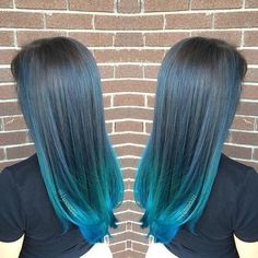 Turquoise Blue Ombre Hair Color, Blue ombre hair looks especially stunning and ensures that you become the center of attention in every room you walk into. And with the sudden advent . Pastel Ombre, Blue Ombre, Balayage Hair Brunette Short, Blonde Brunette, Short Blonde, Blonde Hair, Grey Hair Wax, Hair Colour Design, Color Del Pelo