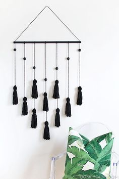 Or use tassels and a wooden dowel for neat wall decor.