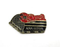 Nova Scotia Lobster Pot Hat Pin or Lapel Pin Nova Scotia Lobster, Hat Pins, Lapel Pins, Store, Accessories, Storage, Shop, Badges