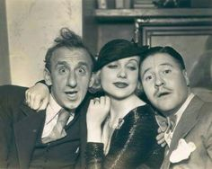 Carole with Jimmy Durante and Jack Oakie