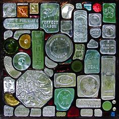 recycled glass bottle window