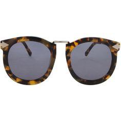 0cfabb2bd2f6ec KAREN WALKER Super Lunar Crazy Sunglasses ( 283) ❤ liked on Polyvore  featuring accessories, eyewear, sunglasses, tortoise shell sunglasses,  karen walker ...