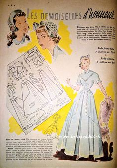 Dress Making Patterns, Doll Patterns, Vintage Patterns, Sewing Patterns, 1950s Party, Patron Vintage, Fashion Mag, Pattern Drafting, Fashion Plates