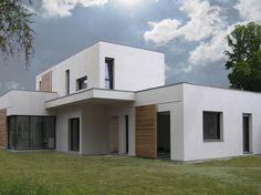 Maison contemporaine en brique thermique et enduit chaux