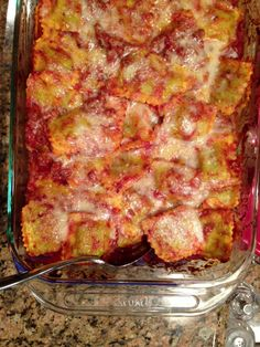 ravioli lasagna very quick and easy! My family loves it....