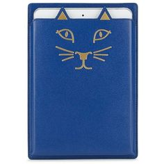 Charlotte Olympia Feline Mini iPad Case ($130) ❤ liked on Polyvore featuring accessories, tech accessories, ipad mini case, ipad sleeve case, genuine leather ipad case, charlotte olympia and ipad mini sleeve case