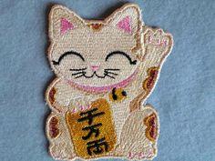 Maneki Neko Iron on Patch by GerriTullis on Etsy, $12.50
