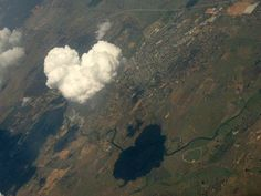 white heart shaped cloud and clouds shadow falls on earth ground mountains ❤️☁️ I Love Heart, With All My Heart, Happy Heart, My Love, God's Heart, Heart Pics, Heart Pictures, Heart In Nature, In Natura