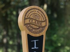 Personalized Custom Tap Handle with Chalkboard Insert - Tap House Edition by FunMadeProducts on Etsy