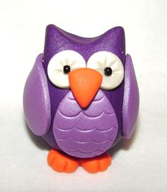 CHUBBY OWL  Polymer Clay Animal  Made to Order  You by KatersAcres®