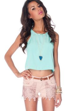 REALLY???  Of course theyare $185 ... no wonder I think these shorts are cute!  :-(    Siwy Camilla Cut Off Shorts in Pink Moon $185 at www.tobi.com