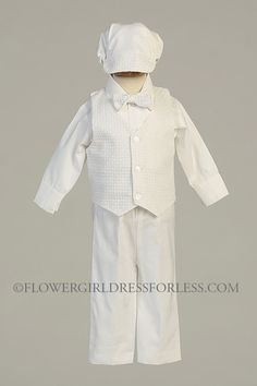 Boys Baptism/ Christening Outfit with Hat- Style NATHAN $41.99