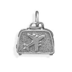 Oxidized Suitcase Charm