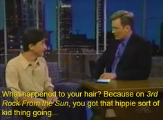 In 1998, Joseph Gordon-Levitt went on Conan to promote his latest movie, Halloween H2O . The first thing Conan remarked was that JGL's hair ...