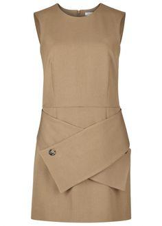 Camel twill dress - Mini Dresses - Dresses - All Clothing - Women