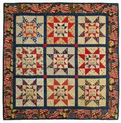 Patriotic Sawtooth Stars