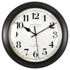 Classic look for that hard-to-buy-for person! FirsTime® Slim Bronze Wall Clock - BedBathandBeyond.com