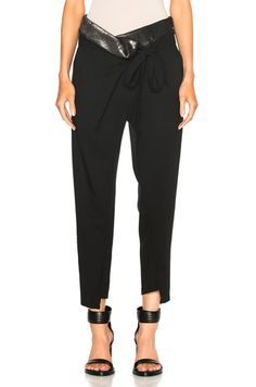 High Waisted Belted Fold Trousers