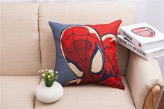 Decorative Home Cotton Linen Pillow Case Cover Living Room Bed Chair Seat Waist Throw Cushion spider-man Square Pillowcases #Affiliate
