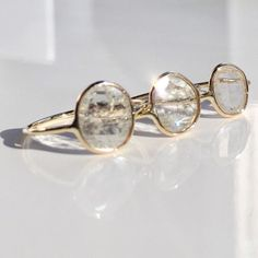 First glimpse of spring, caught in the facets of our Diamond Slice Rings #diamond #14k #gold #diamondslice #valejewelry