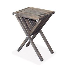 GloDea Xquare X45 Tall Wooden Patio End Table - XQET45YP