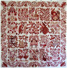 "Red ""Civil War Bride"" quilt top: Every Stitch"